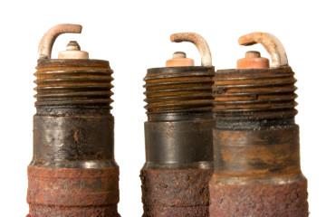 rusty spark plugs
