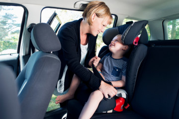 Older child in car seat