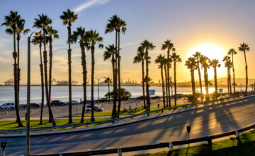 coastal view of road in california with cars with insurance